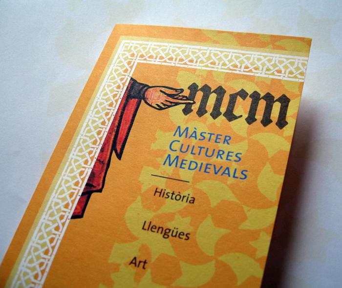 Màster cultures medievals. Díptic