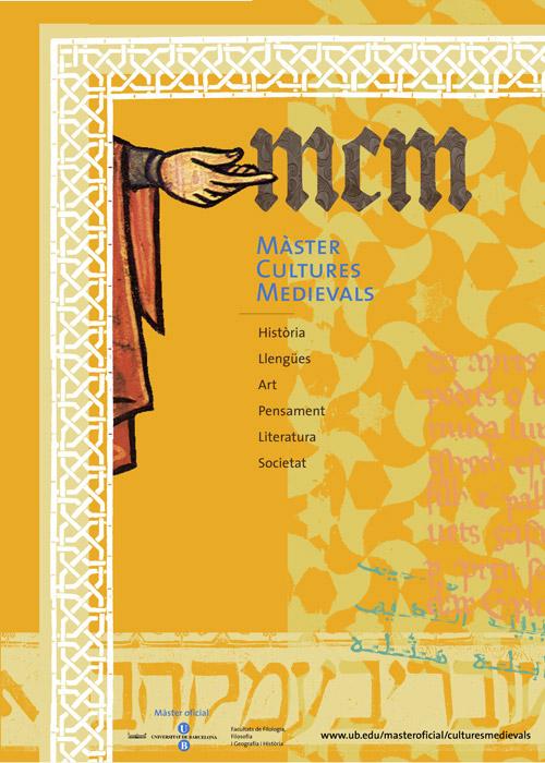 Màster cultures medievals. Cartell